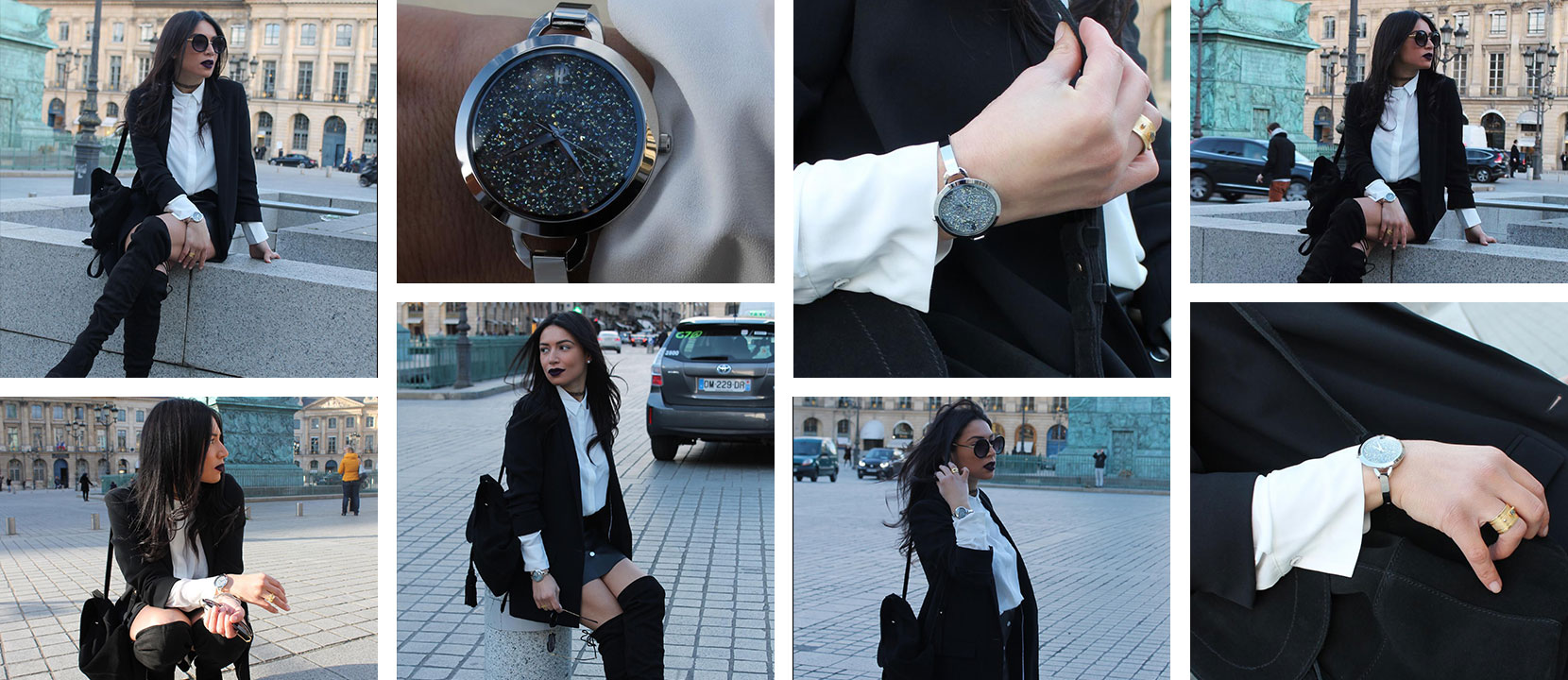 Découvrez le look proposé par Larevuedelila accordé avec la montre femme 096J681