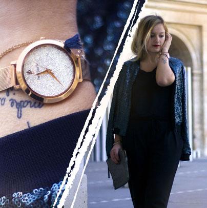 Découvrez le look proposé par Lauremjoy accordé avec la montre femme 097M908