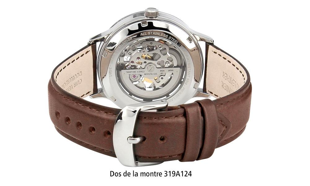 Dos de la montre homme automatique 319A124 Pierre Lannier