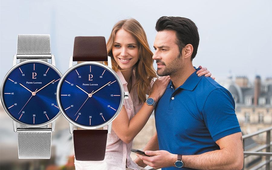 Duos montres homme femme Saint-Valentin Pierre Lannier