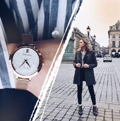 Découvrez le look proposé par Jakklyn accordé avec la montre femme 097M908