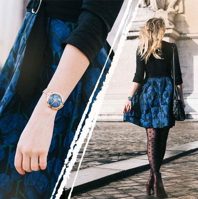 Découvrez le look proposé par Lau from Paris accordé avec la montre femme 097M968