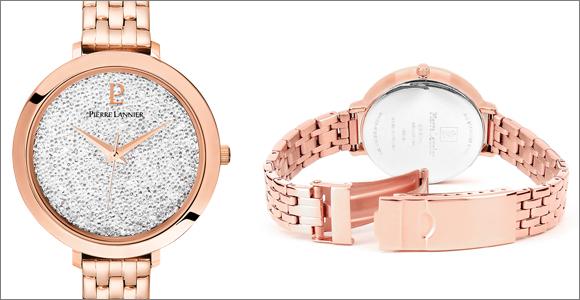 Optez pour la montre femme 100H909 ornée de Cristaux Swarovski® Pierre Lannier